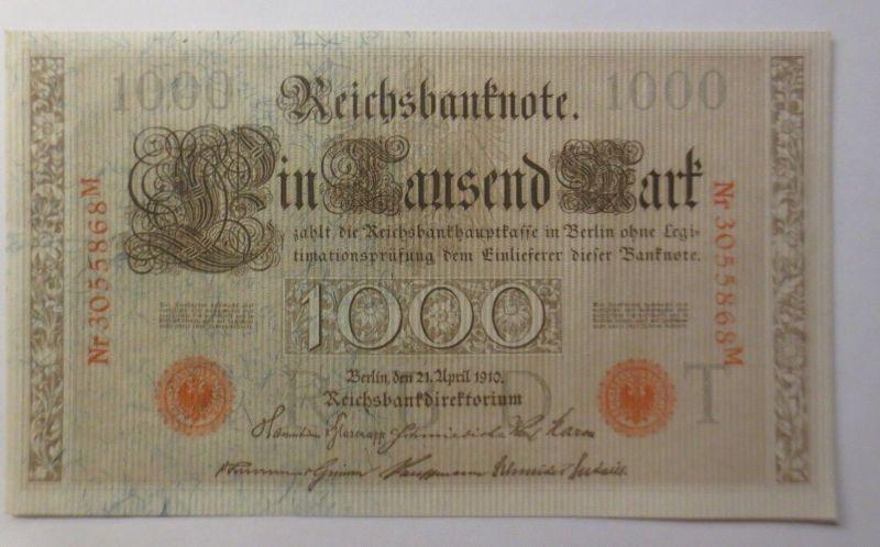 Geldschein, 1000 Mark, Reichsbanknote Eintausend Mark, 1910  ♥ (4659)