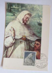Spanien, Maximumkarte, San Petro Nolasco,  1963 ♥ (4394)