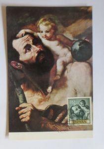 Spanien, Maximumkarte, Ribera, San Christobal, 1963 ♥ (4341)