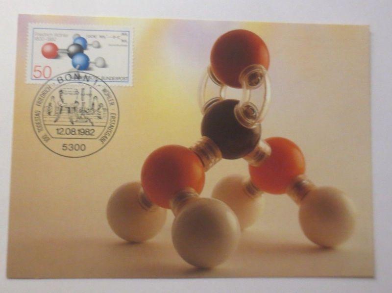 Maximumkarte Chemiker Friedrich Wöhler 1982 ♥  (65350)
