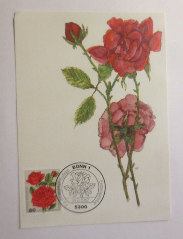 Maximumkarte  Bourbonrose 1982 ♥  (52306)