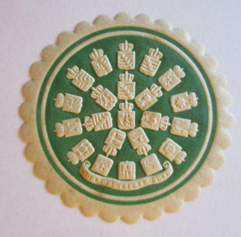 Norddeutscher Bund, postfrische Verschlußmarke, Wappen des Bundes (15139)