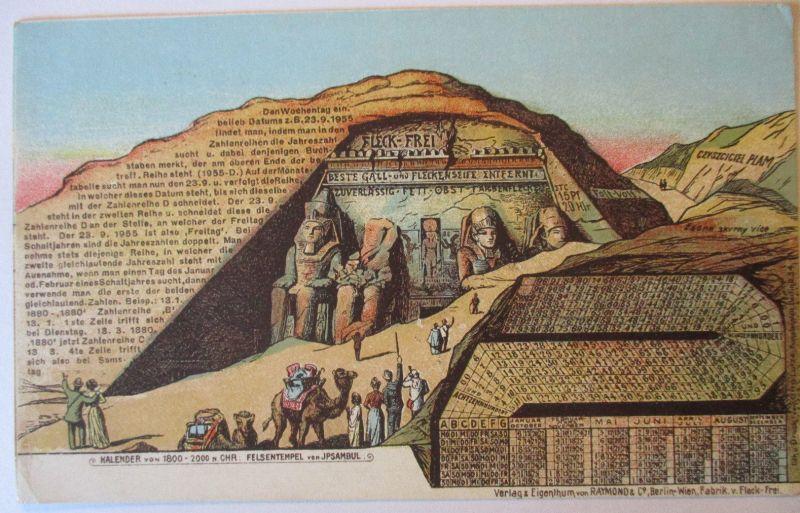 Werbung Reklame, Ägypten, Fleck-Frei Raymond & Co. Berlin, ca. 1900 (71964)