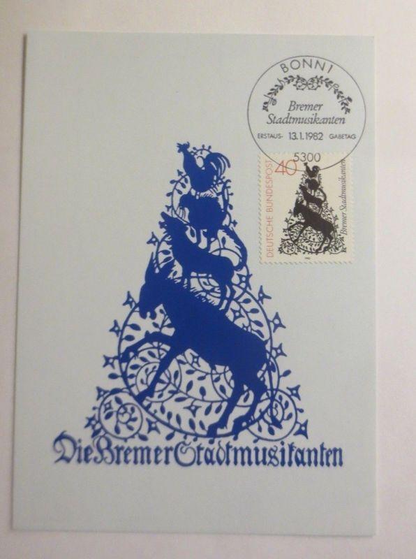 Maximumkarte  Die Bremer Stadtmusikanten  1982 ♥  (13858)