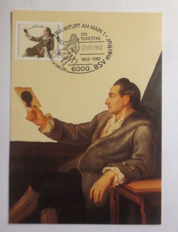 Maximumkarte  Johann Wolfgang von Goethe  1982 ♥  (71512)