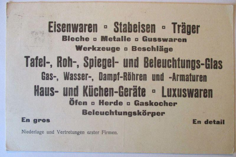 Werbung Reklame, Eisenwaren Werkzeuge, 1914 aus Sulzbach (69343)