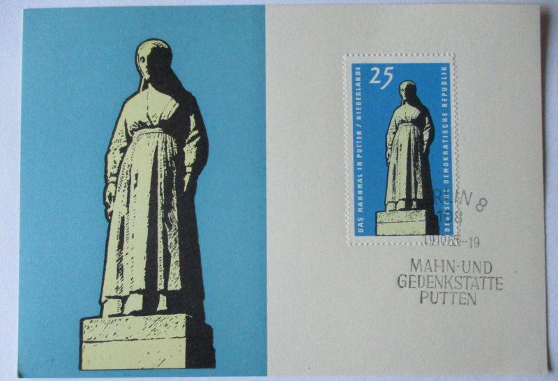 DDR, Mahn und Gedenkstätten, Putten 1965 (28176)