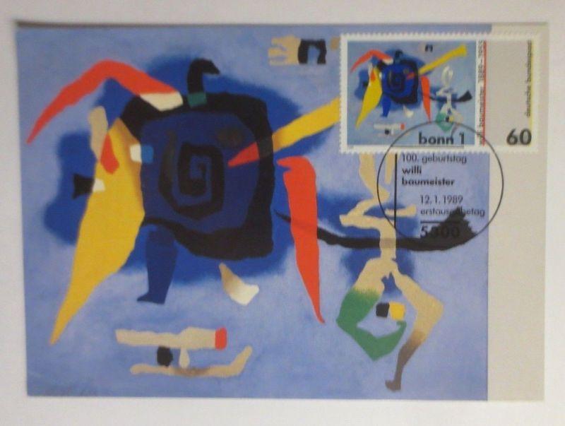 Maximumkarte Kunst Willi Baumeister  1989 ♥  (71503)