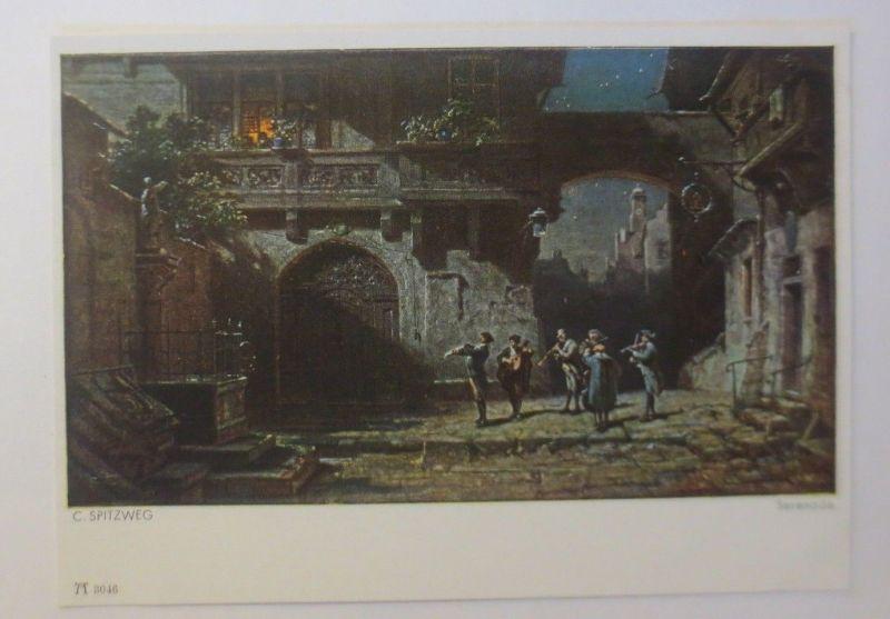 Künstlerkarte, Serenade, Nr. 3046,  1950, C. Spitzweg  ♥ (5109)