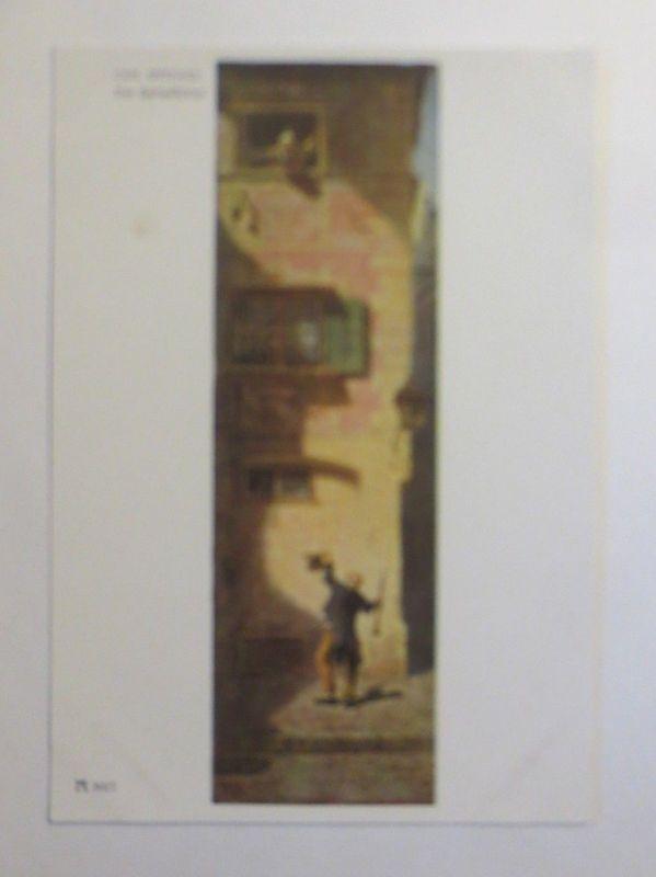 Künstlerkarte, Der Bettelflötist, Nr. 3027,  1950, C. Spitzweg  ♥ (5100)