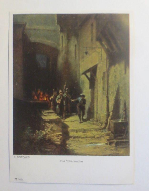 Künstlerkarte, Die Scharwache, Nr. 3034,  1950, C. Spitzweg  ♥ (5094)