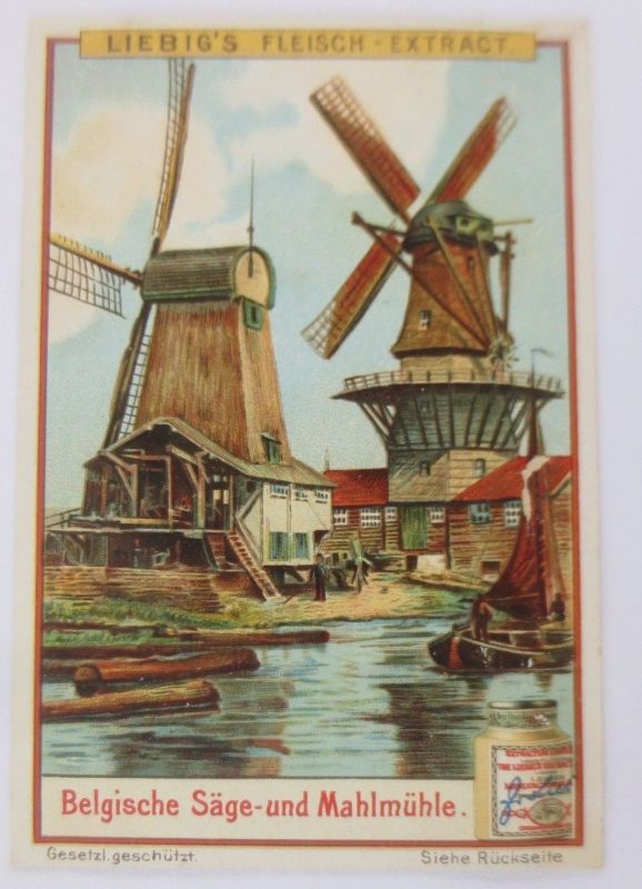 Liebigbilder, Belgische Säge-und Mahlmühle, Windmühle  ♥(8958)