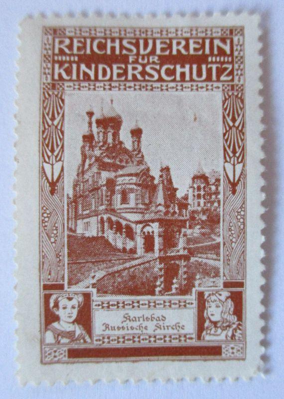 Österreich, Reichsverein für Kinderschutz, Karlsbad Russische Kirche (39576)