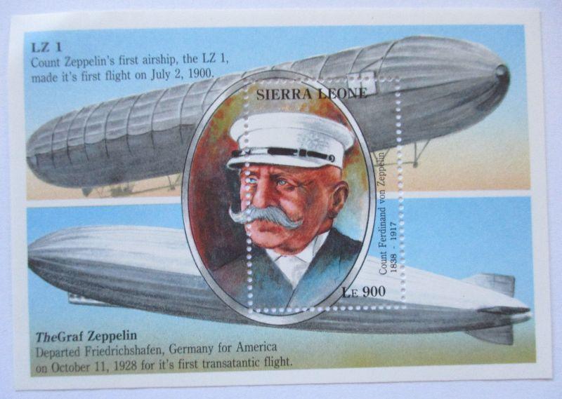 Sierra Leone, Block Graf Zeppelin postfrisch (7656)