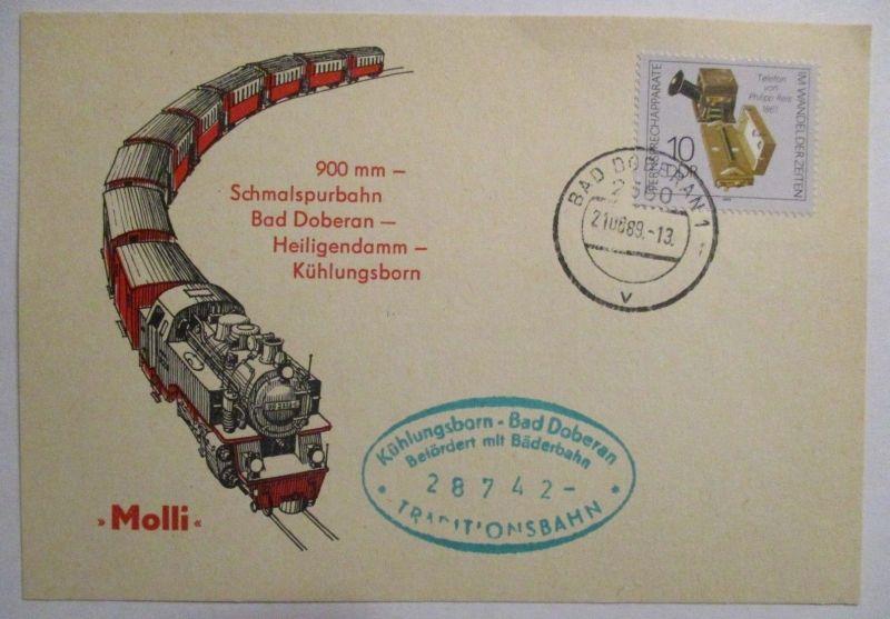 Eisenbahn, Schmalspurbahn Bad Doberan Heiligendamm Kühlungsborn 1989 (39495)