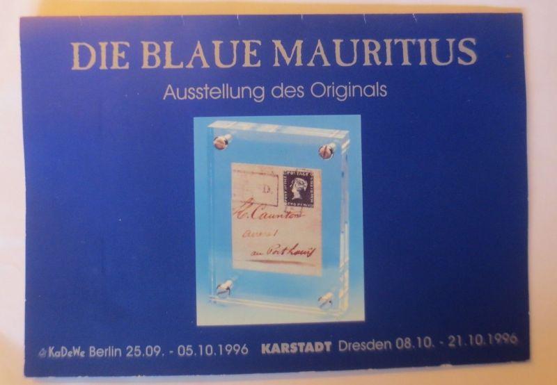Mauritius, limitiert, rote u. blaue Mauritius auf Bordeaux-Brief ♥  (6375)