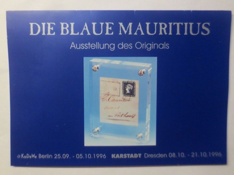 Mauritius, limitiert, rote u. blaue Mauritius auf Bordeaux-Brief ♥