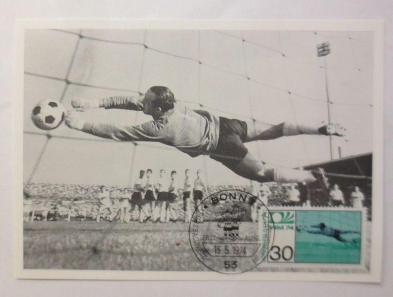 Maximumkarte Fußballweltmeisterschaft 1974 Torwart Horst Wolter ♥  (6338)