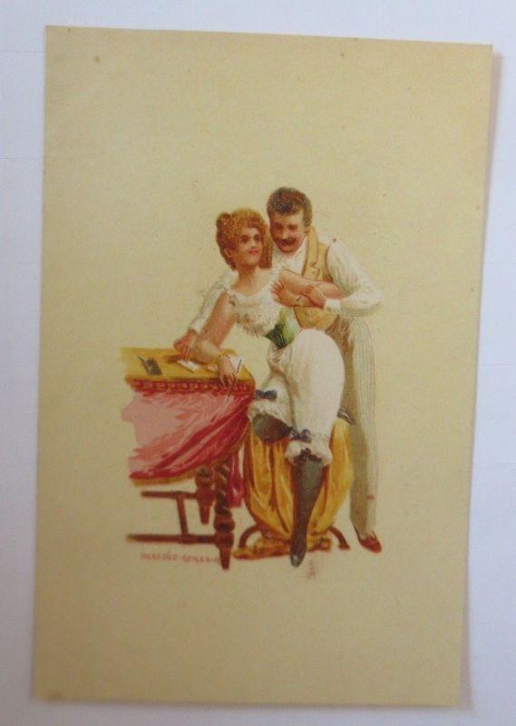 Künstlerkarte, Frauen, Männer, Mode,  1900,  Hegedüs Geiger  ♥ (57543)