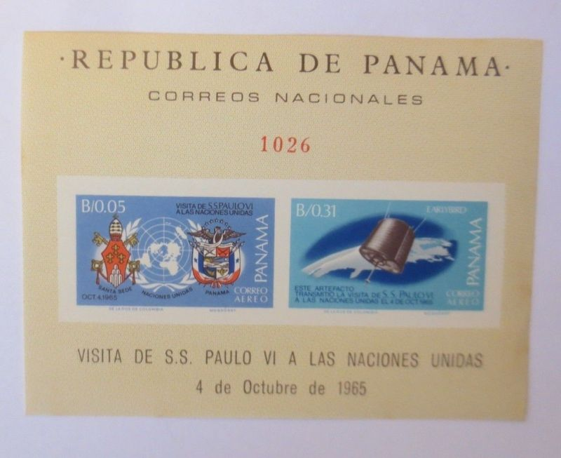 Panama-Block-Aereo-Raumfahrt-Space-Satellit  1968 ♥ (6235)