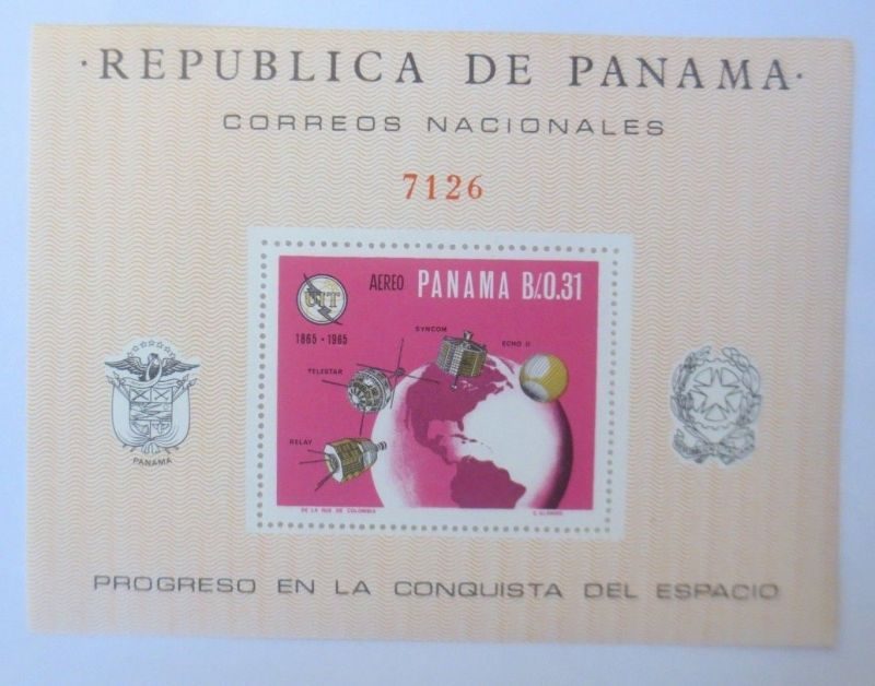 Panama Block Raumfahrt-Space-Aereo-Satellit 1965  ♥ (6198)