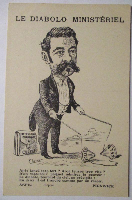 Politik Frankreich Diabolo Ministeriel ca. 1900 (71331)