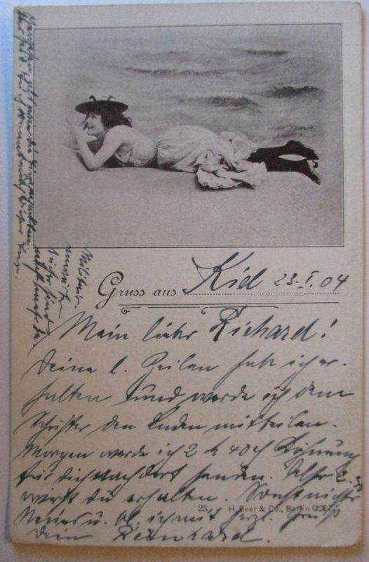 Baden Meer Bademode, Gruß aus Kiel 1904 (36945)