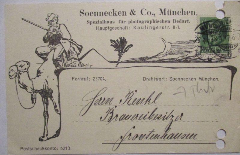 Werbung Reklame Photographie Soennecken & Co. München 1917 (587)
