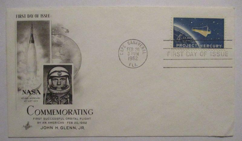 Weltraum Raumfahrt First Orbital Flight John Glenn 1962 (15207)