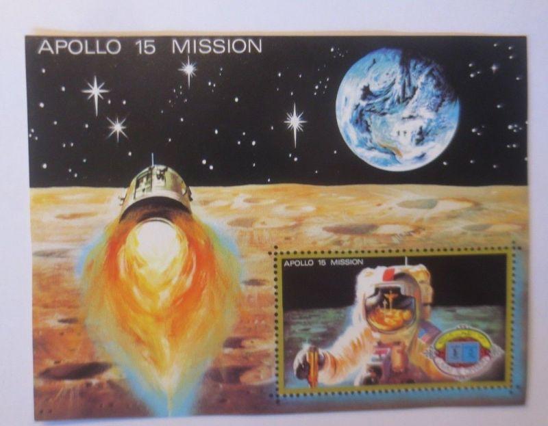 Raumfahrt Umm al-Qaiwain 1972, Block 41, Apollo 15 ♥ (6129)