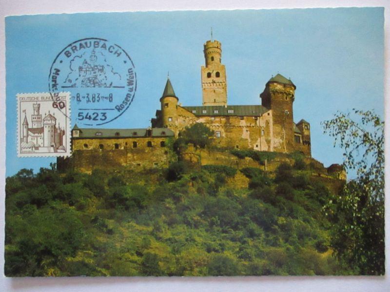 Deutschland Maximumkarte Marksburg bei Braubach am Rhein (54092)