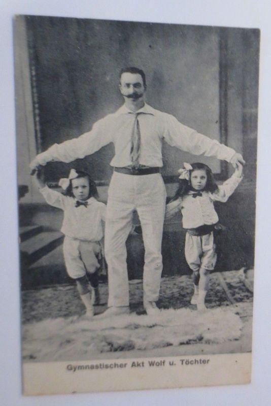 Zirkus, Gymnastischer Akt Wolf u. Töchter, Artisten,  1908 ♥ (69294)