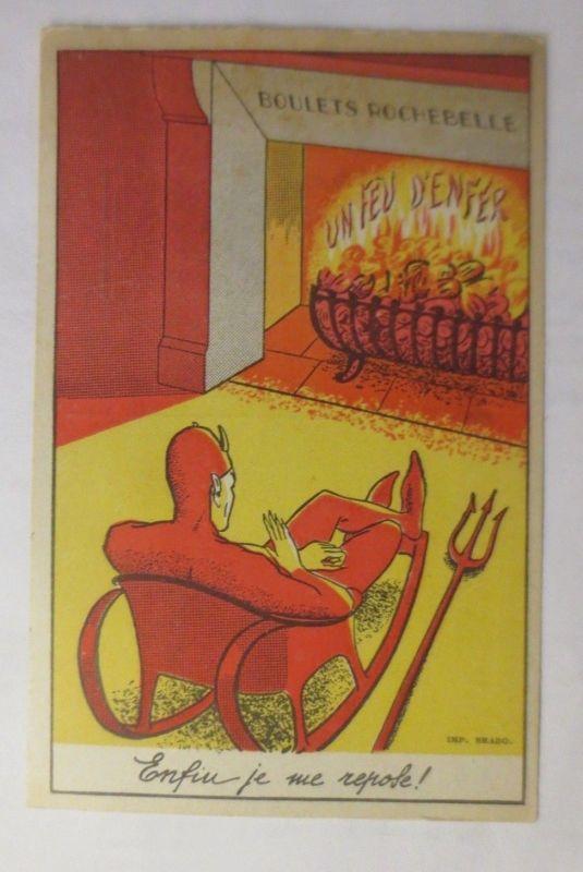 Teufel, Ein höllisches Feuer 1920, Imp. Brabo  ♥ (72254)