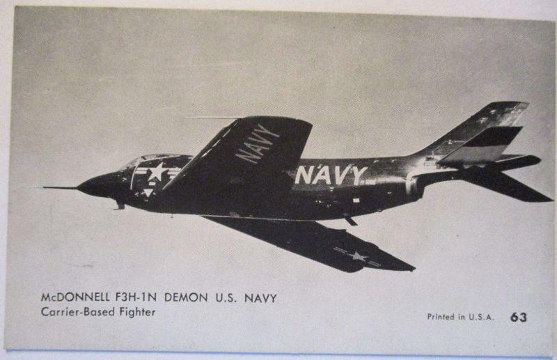 Flugzeuge USA, Mutoscope Card ca.50er Jahre, McDonnell F3H-1N (54033)