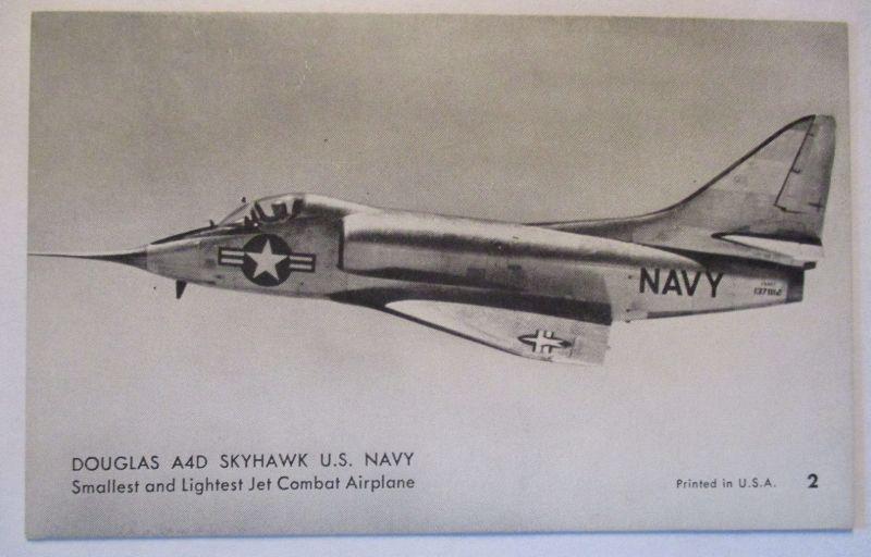 Flugzeuge USA, Mutoscope Card ca.50er Jahre, Douglas A4D Shyhawk (63212)