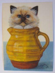 Katzen, Siamkatze,   1980, Christopher Dowing  ♥ (8240)