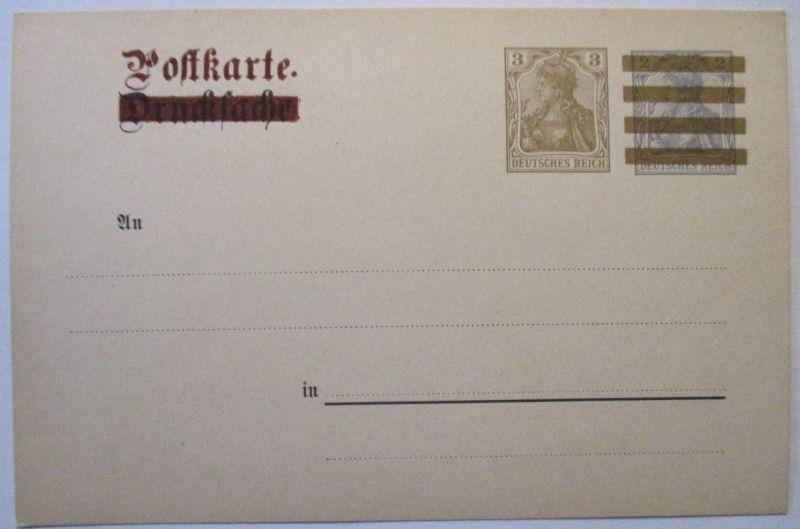 D.Reich Germania Drucksache Ganzsache Überdruck (61065)