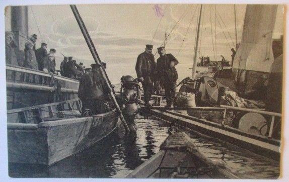 Marine, Taucher Marinetaucher, Seltene Karte Feldpost 1915 (60963)