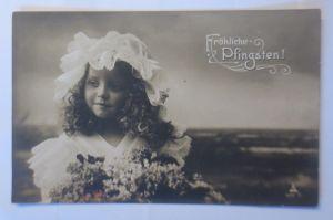 Pfingsten, Kinder, Mode, Hut, Blumen,   1906 ♥ (72347)