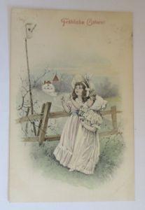 Ostern, Kinder, Mode, Weidenkätzchen,    1909  ♥ (31943)