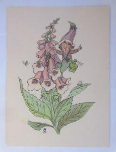 Blumenlegende, Fingerhut, Zwerge, 1945, sig. Eule ♥ (72317)