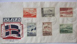 Island, Nr. 241-246 Flugzeuge FDC 1947 (48353)