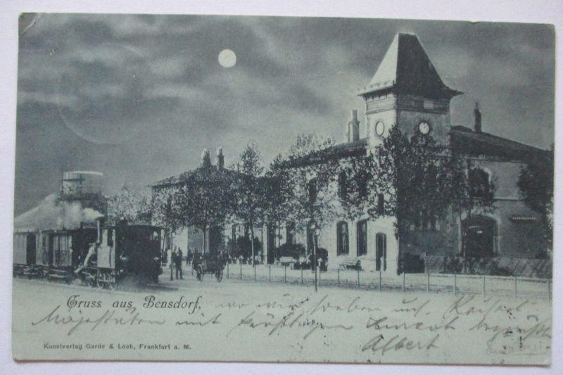 Gruss aus Bensdorf Lothringen, Mondscheinkarte, Verlag Garde&Loeb 1898 (25767)