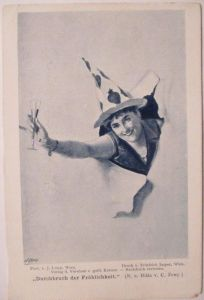 Künstlerkarte J.Löwy, Harlekin (Jasper, Zewy in Wien) ca. 1900 (33639)