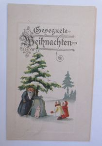 Weihnachten, Weihnachtsmann, Lebkuchen, 1924 Prägekarte♥ (66012)