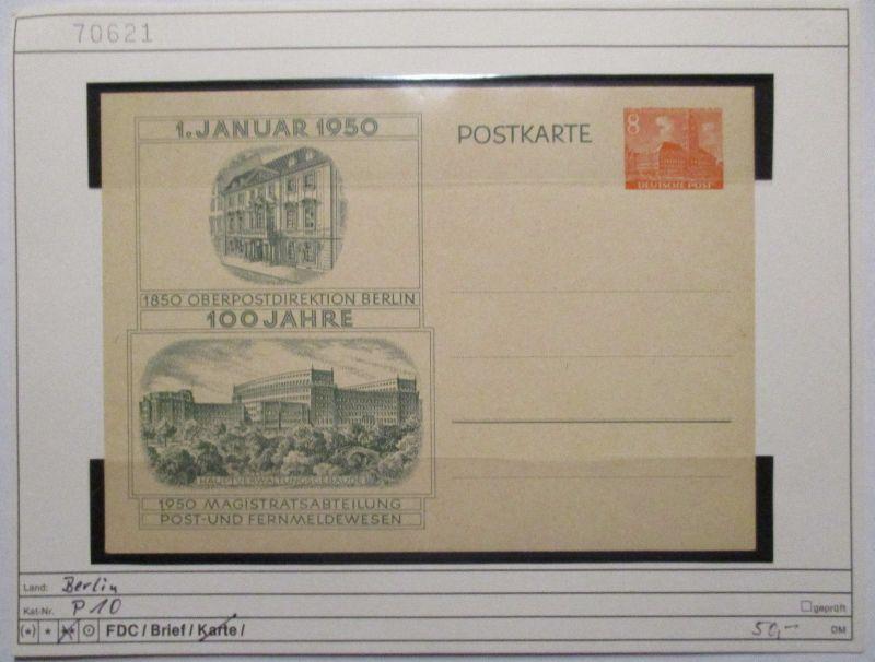Berlin, Sonderganzsache P 10, 100 Jahre OPD Berlin (71784)