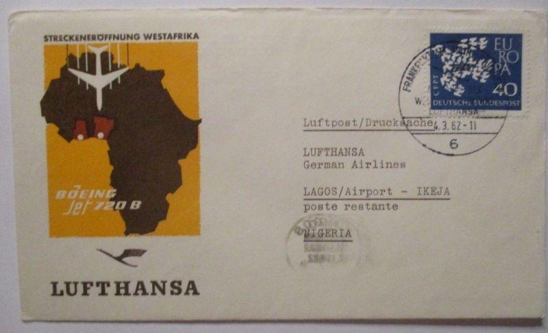 Lufthansa Streckeneröffnung Westafrika Nigeria 1962 (63213)