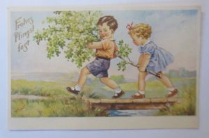 Pfingsten, Kinder, Mode, Birke,  1941 ♥  (72288)