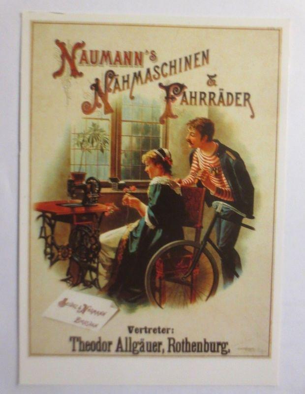 Reklame, Fahrrad, Naumann´s Nähmaschinen &  Fahrräder, 1980  ♥ (72268)