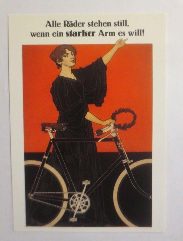 Reklame, Fahrrad, Alle Räder stehen still, wenn ein starker Arm  1980  ♥ (72260)